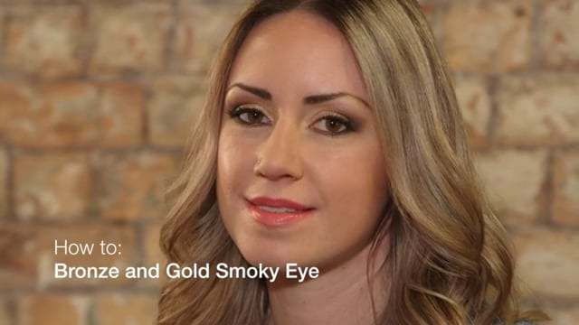 image-Maybelline NY social media video, Bronze and Gold Smoky Eye